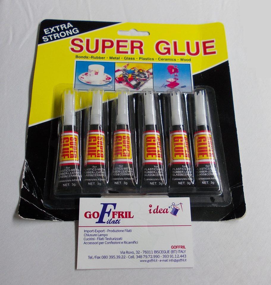 colla super glue 6 pz